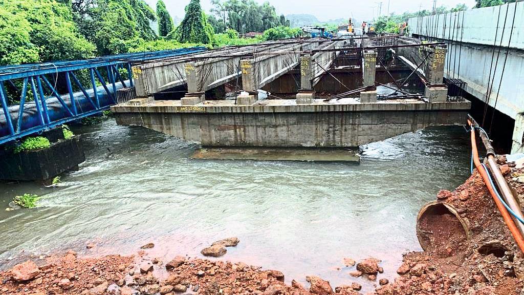 Goa : तार नदीवरील पुलाचे बांधकाम रोखले