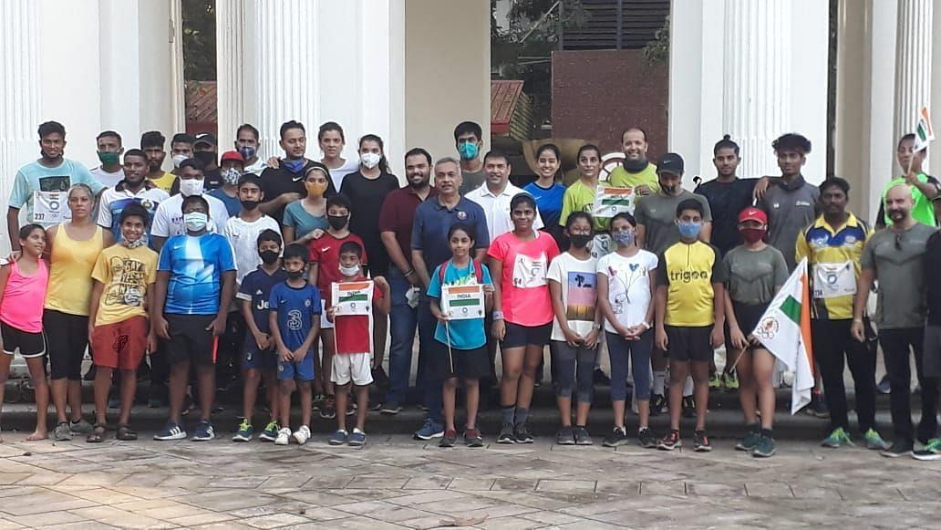 Olympic Awareness Programme: पणजीतील दौडीत मुलांचा उत्साह