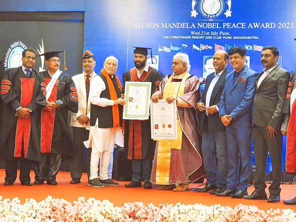 Nelson Mandela Nobel Peace Award: सिद्धेश नाईक यांना नेल्सन मंडेला शांतता पुरस्कार व मानद डॉक्टरेट प्रदान