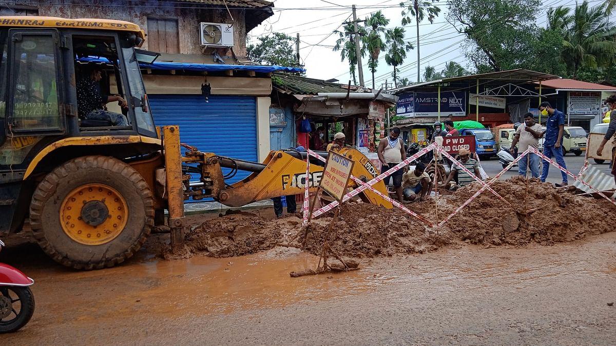 Goa: काणकोणात तब्बल अठरा दिवसांनी बुजवला खड्डा