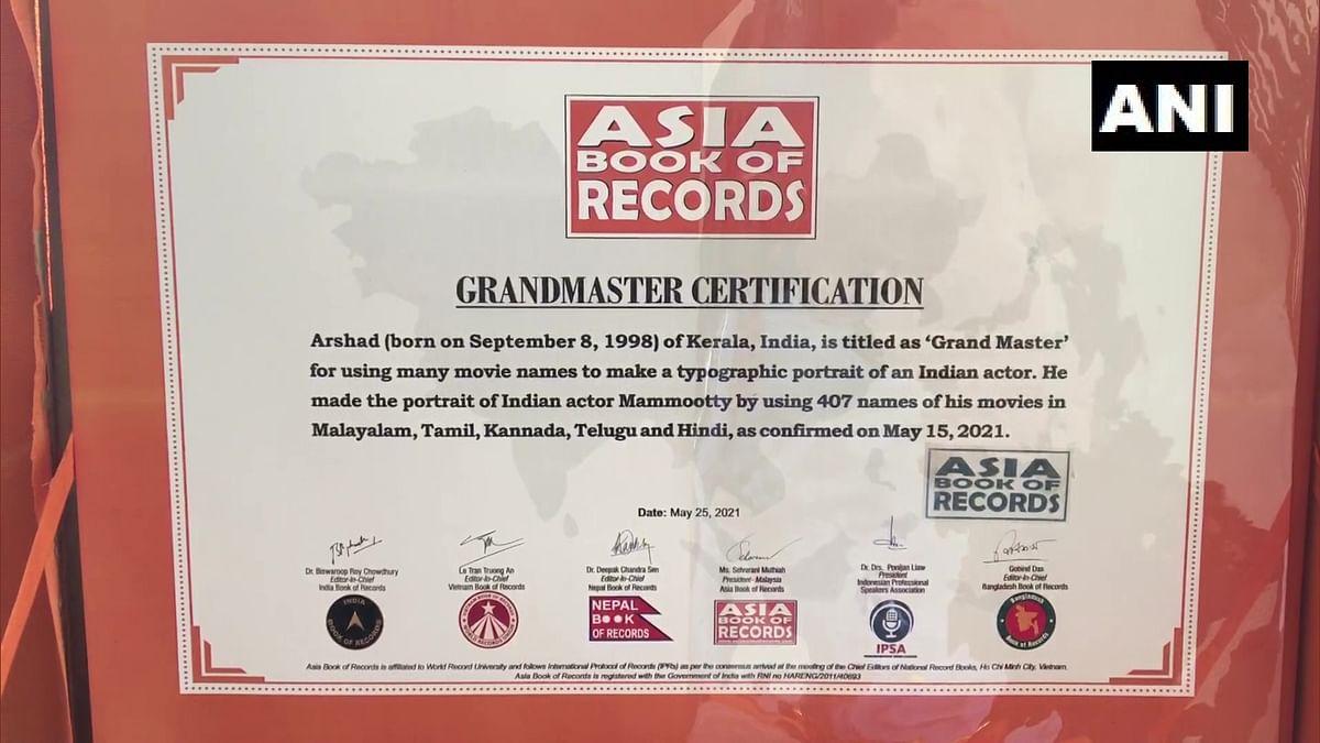 Asia Book of Records & India Book of Records for making typographic portrait