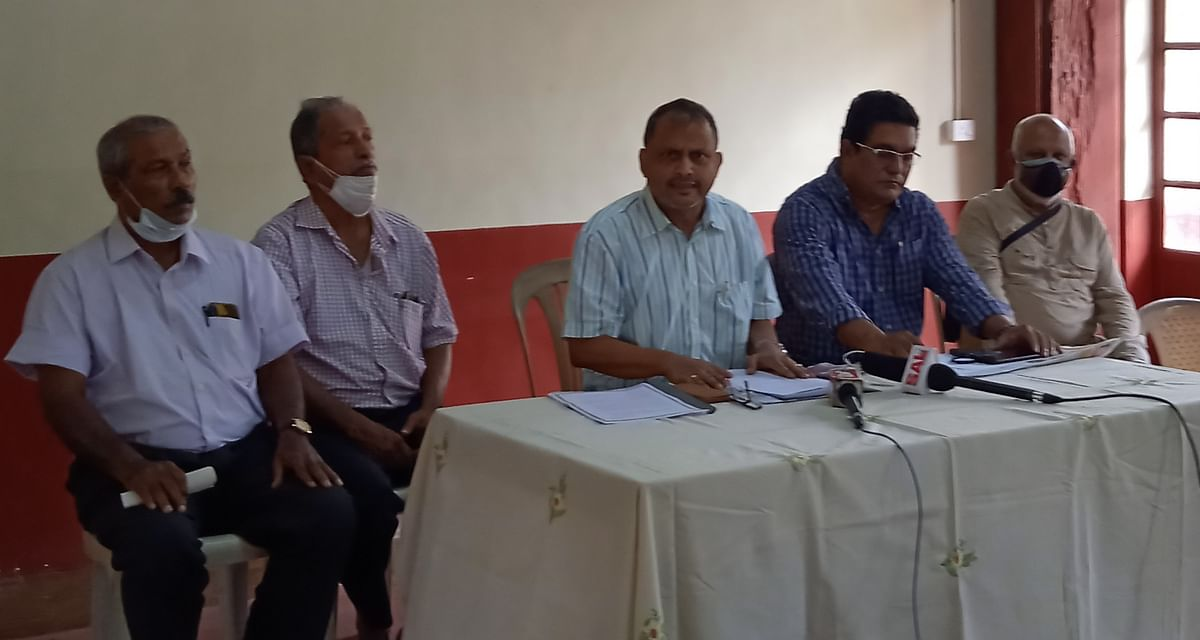 Goa: Suvarna Tendulkar Addressing Press Conference In Margaon.