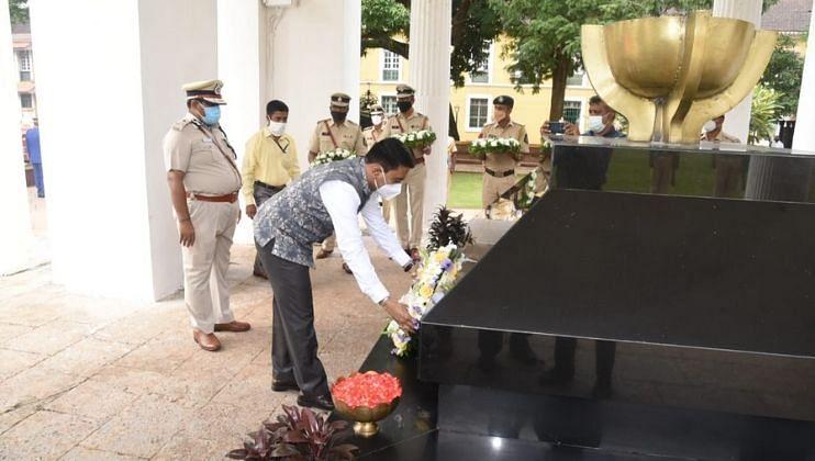 Goa: स्वातंत्र्यसैनिक डॉ. टी. बी. कुन्हा यांना मुख्यमंत्र्यांकडून श्रद्धांजली