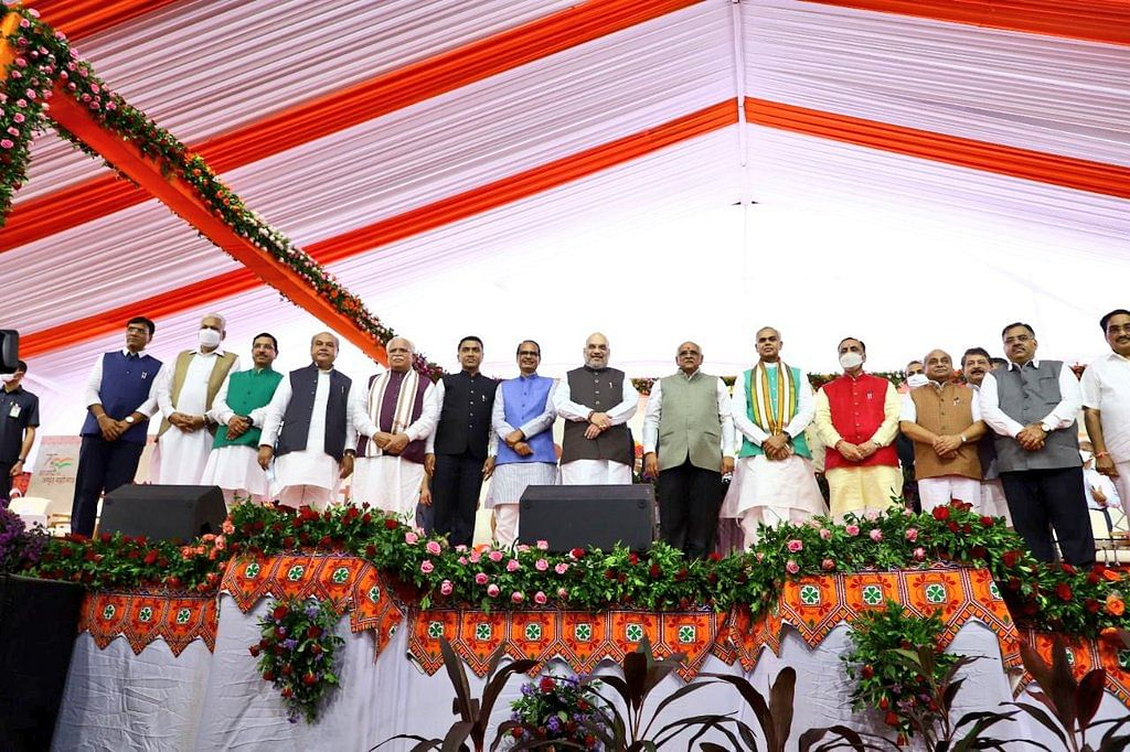 Goa CM pramod sawant Attended the Swearing in Ceremony of Chief Minister of Gujarat
