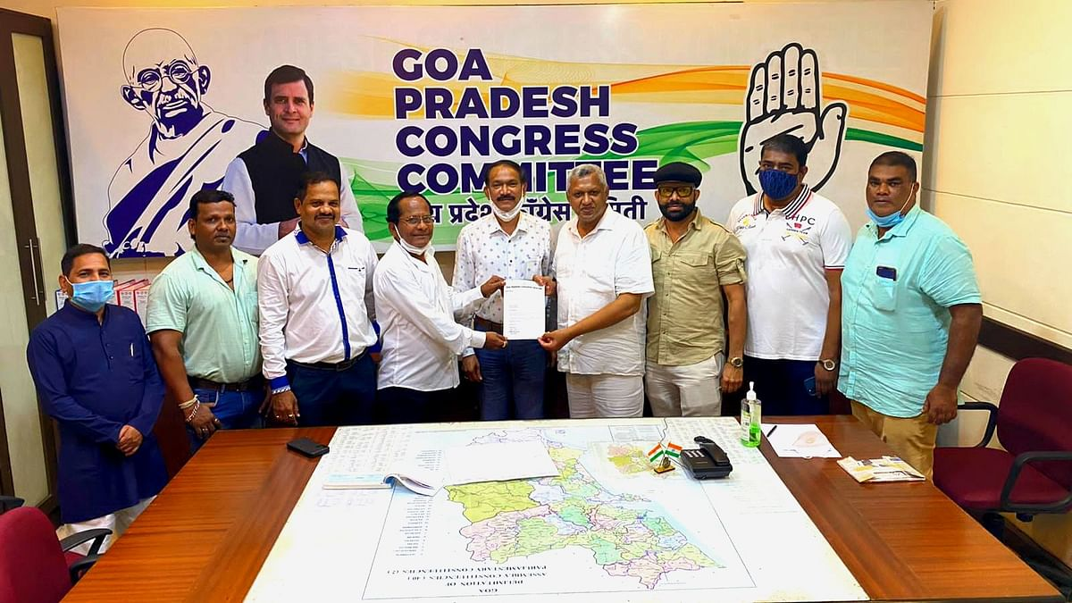 Goa: BJP workers participating in the procession at Kanaka without wearing helmets. 1st September 2021