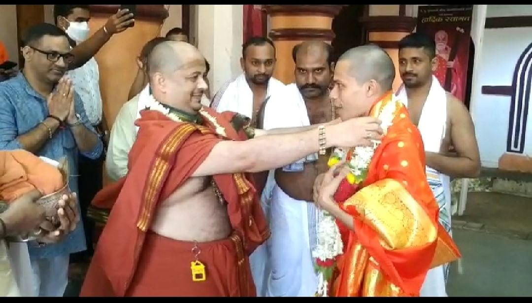 Goa: कवळे मठाधिश शिवानंद सरस्वती स्वामींची गोकर्ण पर्तगाळी मठाधिश विद्याधिश स्वामीची भेट