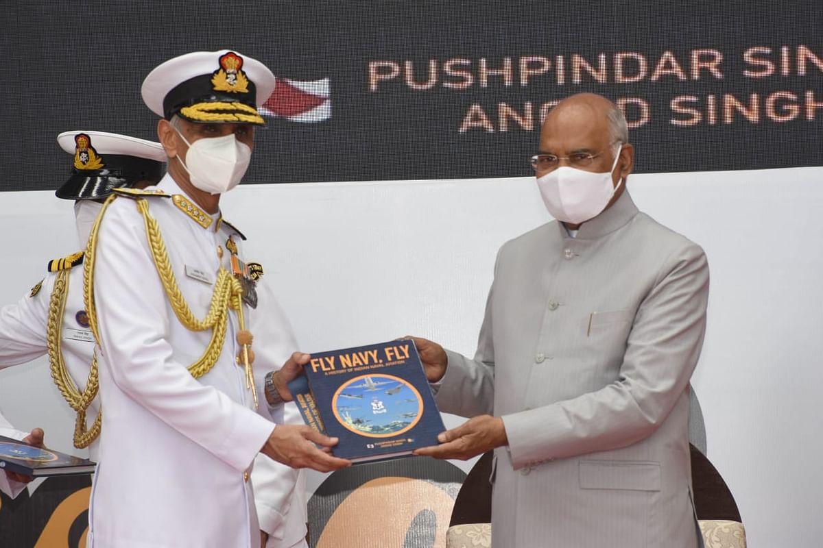 President of India Ramnath Kovind at Naval Aviation