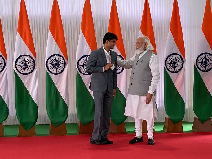 Suhas LY With PM Modi