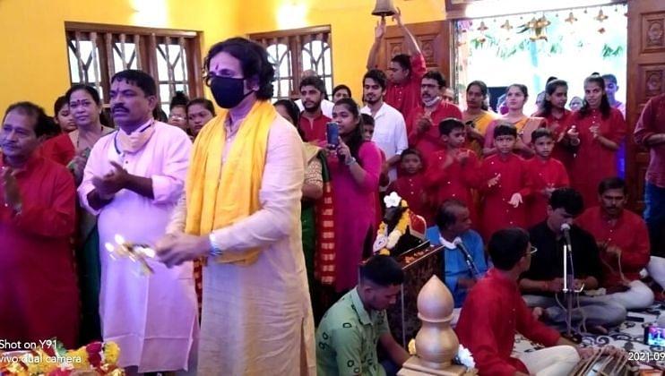 श्री दामोदर मंदिरात शेवटच्या श्रावणी सोमवारनिमित्त धार्मिक विधी पार पडल्या