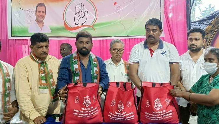 डिचोली लायन्स क्लबतर्फे पालिकेच्या 62 सफाई कर्मचाऱ्यांना कडधान्याचे वितरण (Goa )