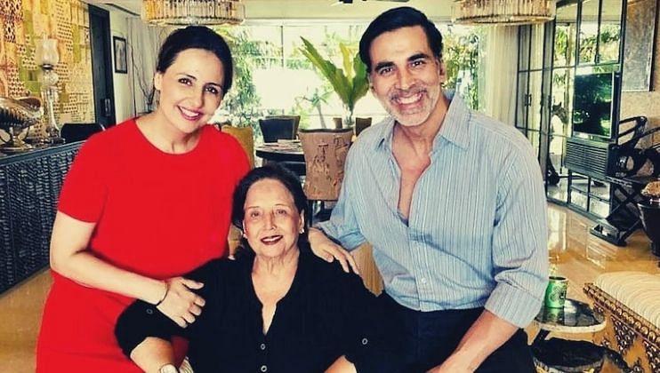 अक्षय कुमारच्या आईची प्रकृती गंभीर, चित्रपटाचे शूटिंग अर्धवटच सोडून परतला मुंबईला
