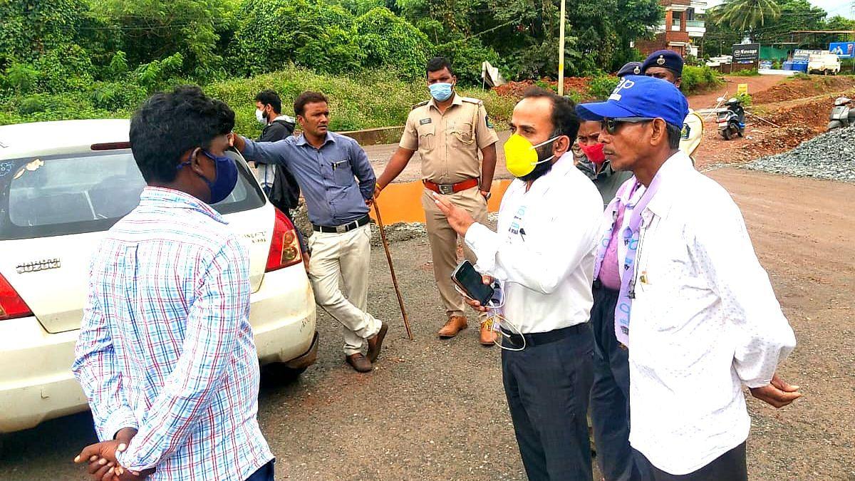 Goa AAP: आम आदमी पार्टीने 'रास्ता रोको'चा इशारा देताच खड्डे बुजवण्याचे काम सुरु