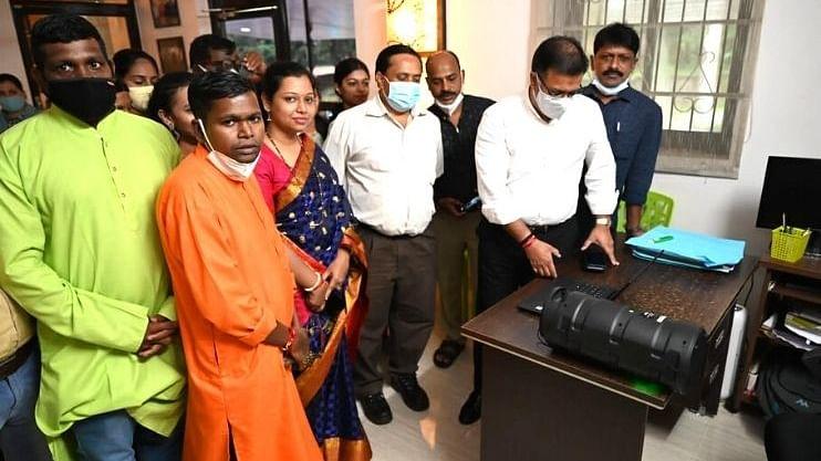 Goa: 'देवा श्री गणेशा' या भक्तीमय  गीताचं आरोग्यमंत्री विश्वजित राणे यांच्या हस्ते लोकार्पण