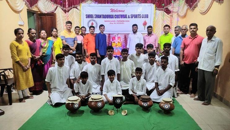 Goa: श्री शांतादुर्गा सांस्कृतिक आणि क्रीडा संघाच्या घुमट आरती मंडळाचे उद्घाटन