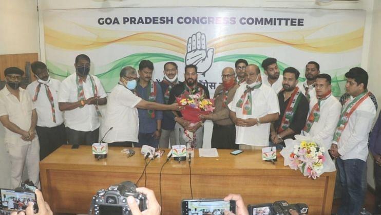 Goa Election: फुटबॉलपटू आल्वितो डिकुन्हा यांच्या हातात काँग्रेसचा झेंडा