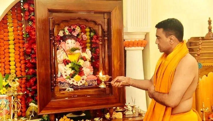 Ganesh Festival 2021: मुख्यमंत्र्यांच्या घरी बाप्पा झाले विराजमान