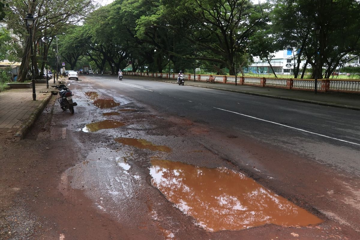 Damaged Road in Goa