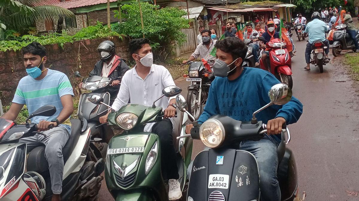 Goa: भाजप मिरवणुकीला हेल्मेटचा नियम नाहीच