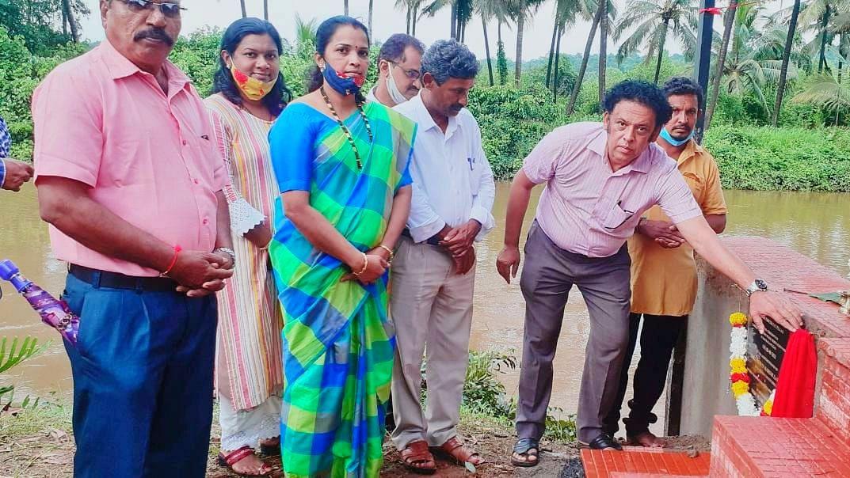 Goa: मयेतील 2 गणेश विसर्जन स्थळांचे आमदार झांट्ये यांच्या हस्ते उदघाटन
