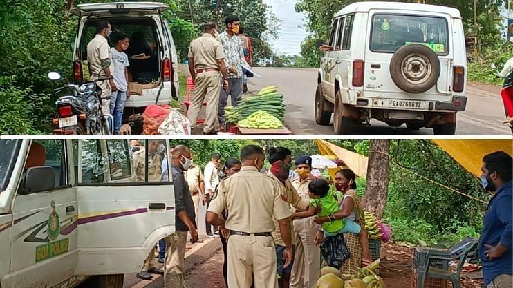 Goa: डिचोली येथे रस्त्याच्या बाजूला बसलेल्या  विक्रेत्यांना हुसकावले