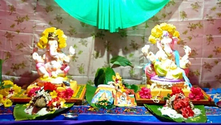 Ganpati Festival: काणकोण येथे एकाच माटोळीखाली पुजले दोन गणपती