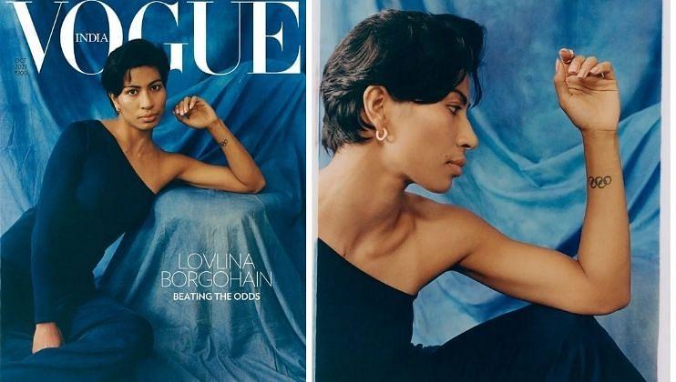 देशातील नंबर वन फॅशन मासिक Vogue ने महिला ऑलिम्पिक पदकविजेत्यांसोबत फोटो सूट केला आहे. यात  बॉक्सर लवलिना बोर्गोहेन हिचे ग्लॅमरस फोटोशूट करण्यात आले. तिने आपले फोटो  आपल्या अधिकृत इन्स्टाग्राम अकाऊंटवर फोटो शेअर केले आहेत.