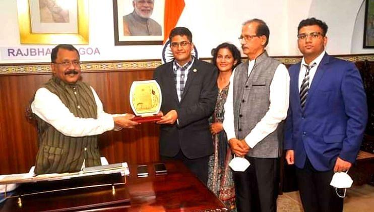 Goa: बुद्धिबळपटू अमेय अवदीला राज्यपालांनी केले सन्मानित