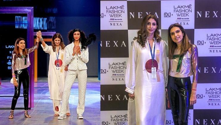 Lakme Fashion Week 2021: ग्रेसफूल स्टाइलमध्ये दिसली श्वेता बच्चन नंदा