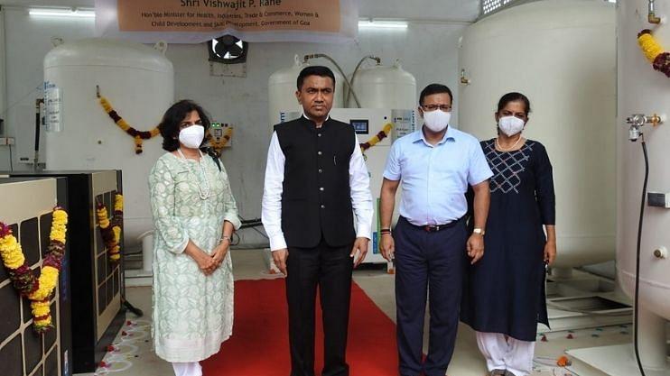 Goa: ऑक्सिजन प्लांटचे मुख्यमंत्री सांवत याच्या हस्ते उद्घाटन
