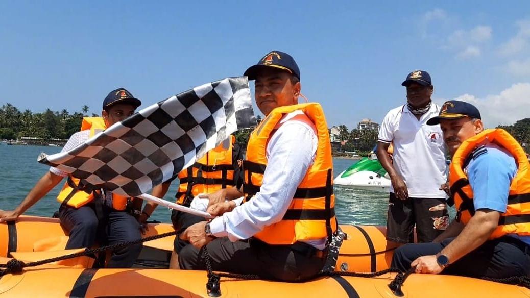 Goa-Karnataka 'सागर शक्ती' नौकानयन मोहिमेला मुख्यमंत्र्यांनी दाखवला झेंडा