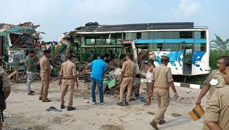 उत्तर प्रदेशात भीषण अपघात 9 जणांचा मृत्यू तर 27 जण गंभीर जखमी