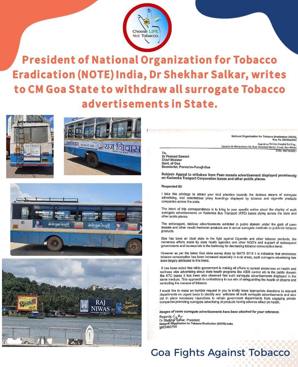 Goa: तंबाकू मुक्त अभियान