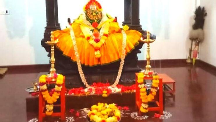 पिसुर्ले नवदुर्गा मंदिरात नवरात्रोत्सवानिमित्त विविध कार्यक्रमाला सुरुवात