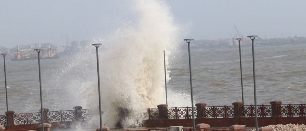 Goa Monsoon Update: पावसाची उसंत, मात्र समुद्राला उधाण