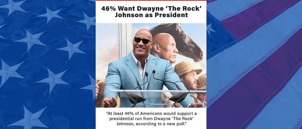 'द रॉक' अमेरिकेचा राष्ट्राध्यक्ष होणार? 46 टक्के अमेरिकी नागरिकांचा पाठिंबा