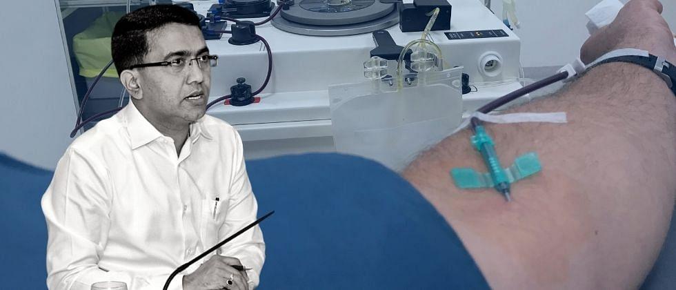 """""""गोवेकरांनो प्लाझ्मा दान करण्यासाठी पुढे या,"""" मुख्यमंत्री डॉ. प्रमोद सावंत"""