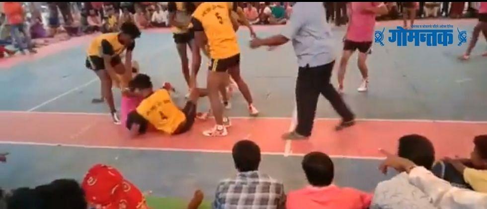 VIDEO: कबड्डी खेळतानाच हार्टअॅटक, खेळाडूचा मृत्यू कॅमेऱ्यात कैद
