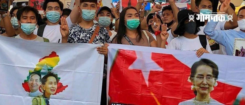 म्यानमारमध्ये आंदोलकांवर पोलिसांचा बेछूट गोळीबार; 18 जण ठार, कित्येक जखमी