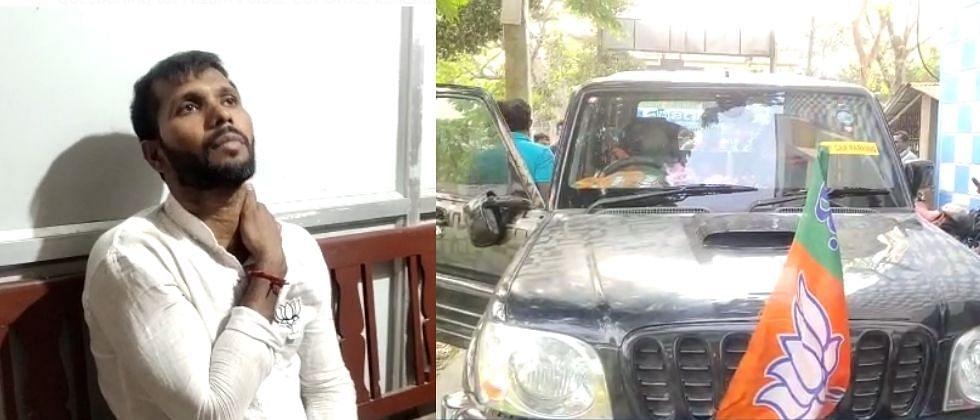 West Bengal : भाजपा उमेदवार अशोक दिंडाच्या गाडीवर हल्ला; टीएमसी समर्थकांवर आरोप