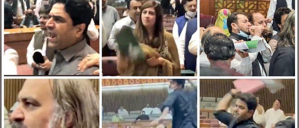 Video: पाकिस्तानी संसदेत शिव्या, आरडाओरड, अन.. गोंधळाचे Live टेलिकास्ट