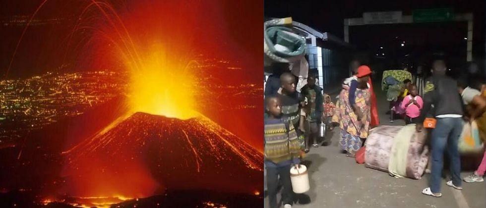 मध्य आफ्रिकेत ज्वालामुखीचा उद्रेक; भीतीने नागरिकांचे स्थलांतर