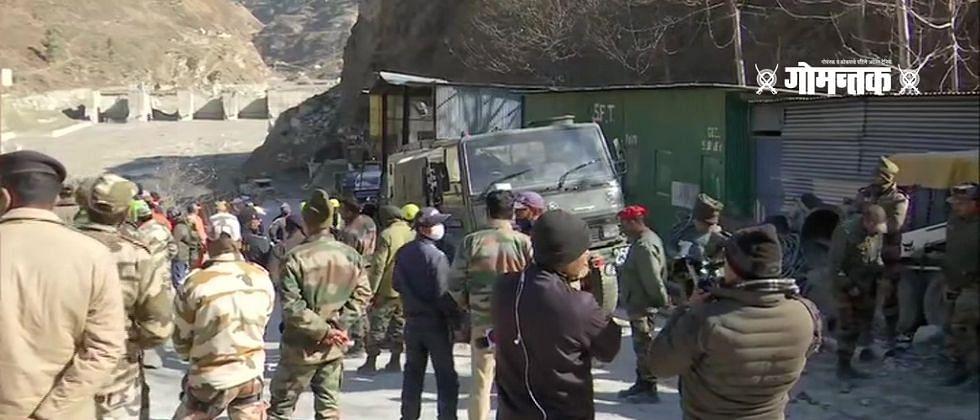 Uttarakhand Accident : चामोलीतील बचाव कार्यात अडथळा; बोगद्यातून येऊ लागले पाणी