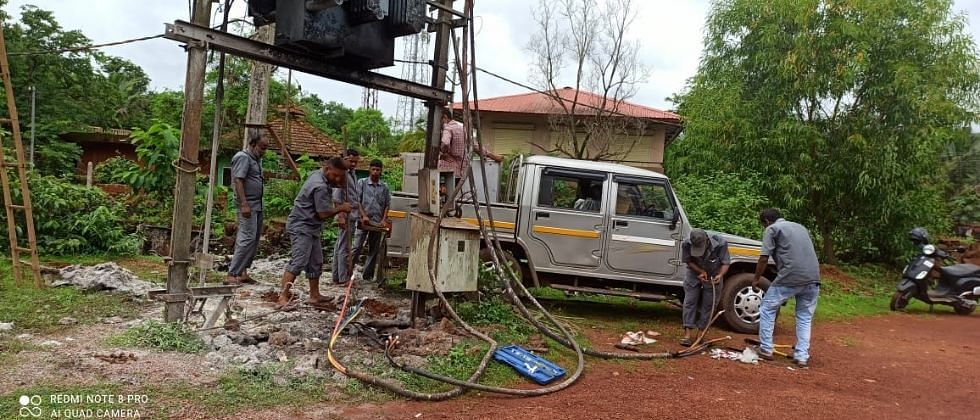 Goa: पिसुर्ले येथे विज नियंत्रण पॅनल बॉक्सला लागली आग