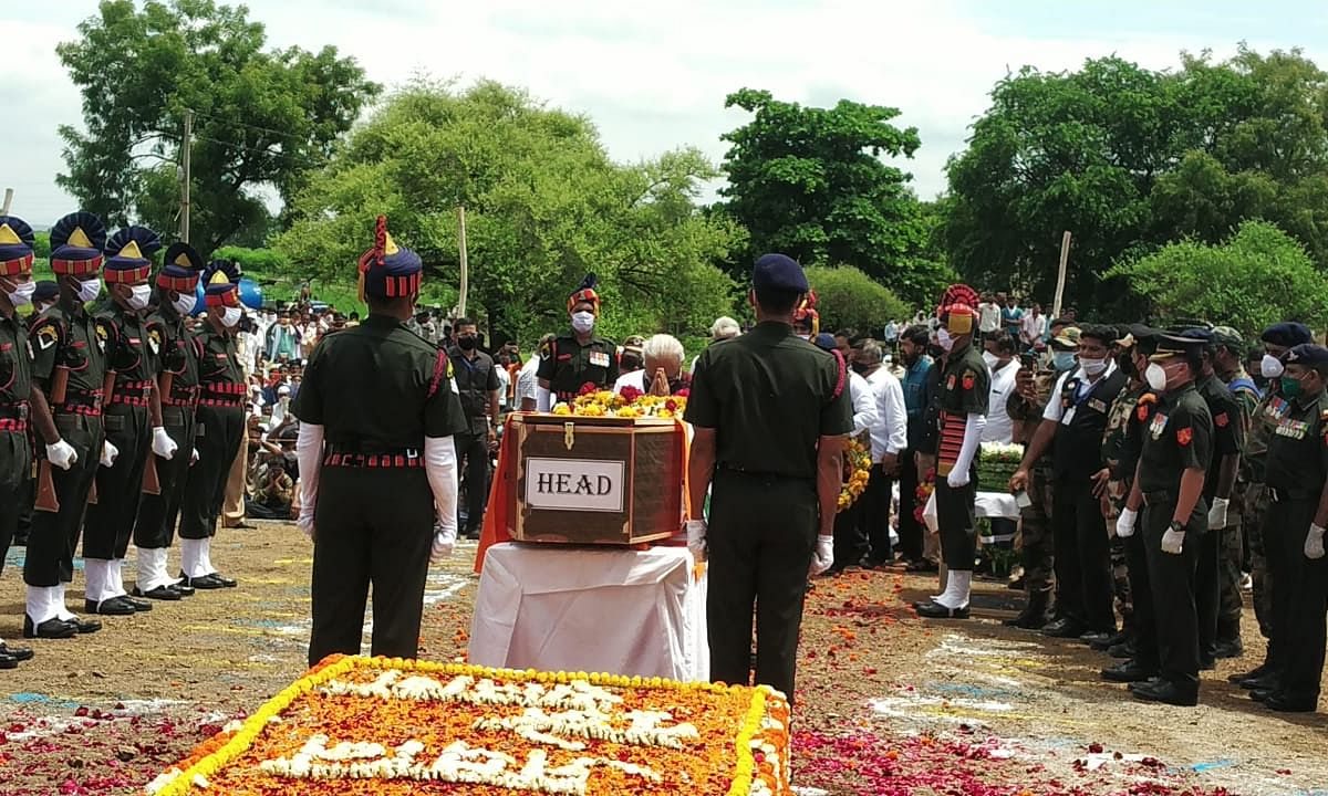 Martyr Sachin More cremated with military honours