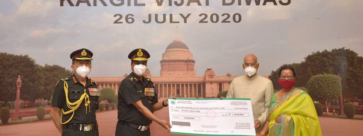 कारगिल विजय दिवसानिमित्त राष्ट्रपतींची लष्करी रुग्णालयास खास भेट