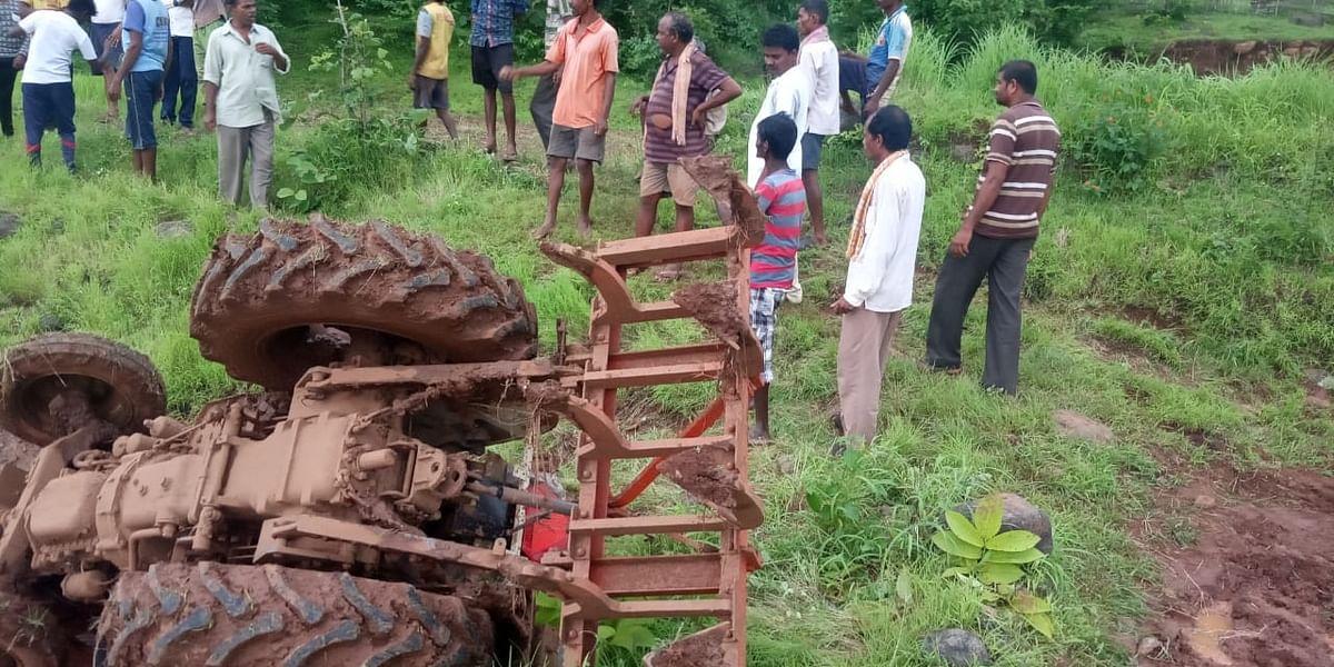 काठीपाडा येथे शेतकऱ्याचा ट्रक्टरखाली दबून मृत्यू