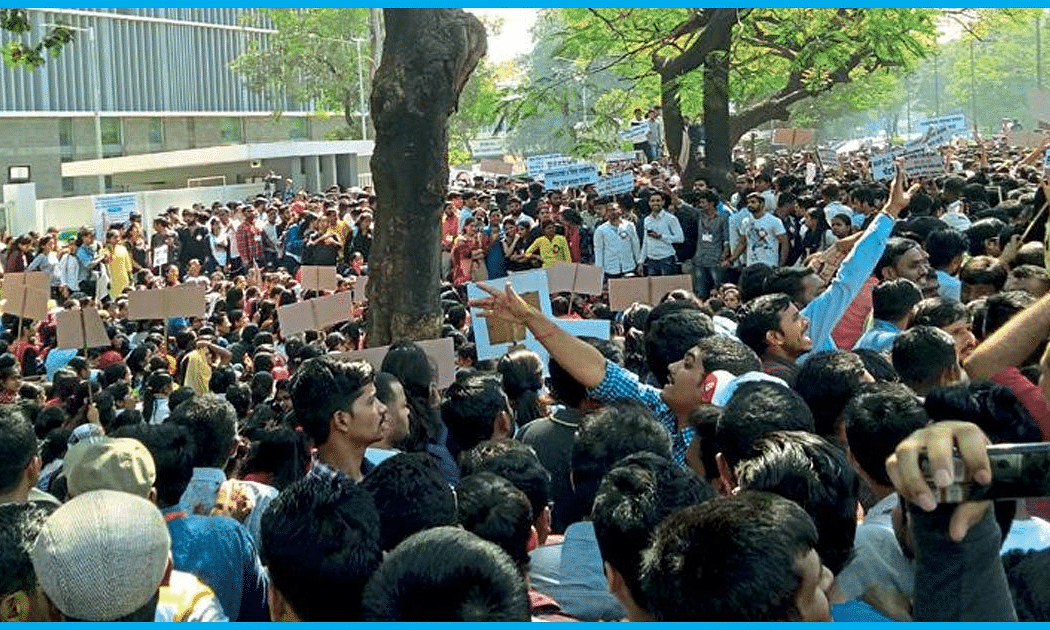 Students protest delay in MPSC recruitments
