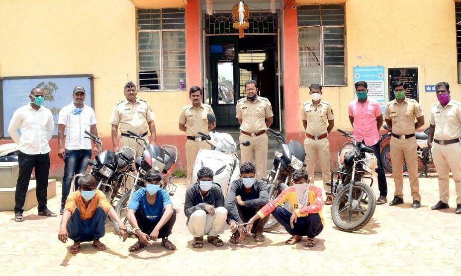 जामखेडमध्ये मोटारसायकल चोरी करणार्या पाच जणांना अटक