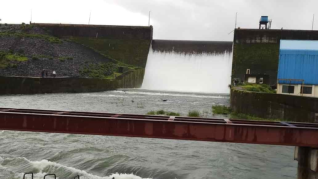 Bhavli dam overflows