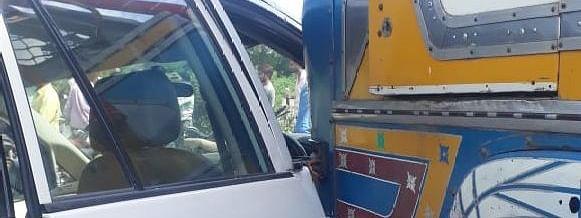 या आमदाराच्या मुलाच्या वाहनाला अपघात